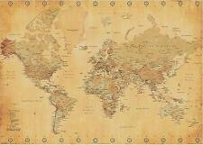 WELTKARTE / WORLD MAP RIESENPOSTER GIANT POSTER VINTAGE STYLE 140x100 cm