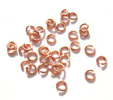 JUMP RINGS Connectors Hand Cut Raw Copper Rose Gold, 4mm 22ga, 100 Qty