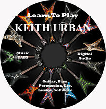 Keith Urban Guitar TABS Lesson CD 79 Songs + Backing Tracks + BONUS!!