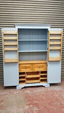 solid pine painted kitchen larder unit with drawer /bespoke farrow and ball