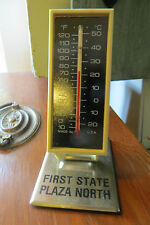 First State Plaza North Mendota Illinois advertising desk self stand thermometer
