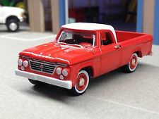 1/64 GREENLIGHT 1962 RED DODGE D-100 PICKUP TRUCK W/ REAR HITCH
