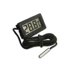 Termómetro Digital Para Acuario y Refrigerador Con Pantalla Grande Terrario LCD