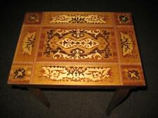 VINTAGE ITALY INLAID WOOD MUSIC BOX CARD OR JEWELRY TABLE ~ AS IS