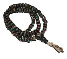 Small Tibetan Prayer beads Gypsy Necklace Prayer Mala Necklace Tribal Necklace