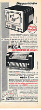 PUBLICITE ADVERTISING   1954    MEGA 25   multiplicateur de circuits Megavision