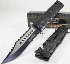 TAC-FORCE Bowie Sawback Spring Assisted Opening Tactical Rescue Pocket Knife