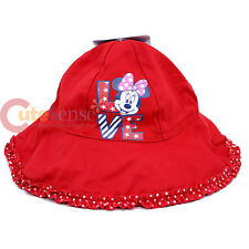 Disney Minnie Mouse Toddler Bucket Hat  Cap - Red Polka Dots Love