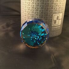 SWAROVSKI REVOLUTION / BARREL PAPERWEIGHT BERMUDA BLUE 7453 060  BOXED