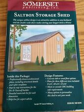 97 SOMERSET 06040 SALTBOX STORAGE SHED WOOD PLANS DO IT YOURSELF PATTERN 8 x 12
