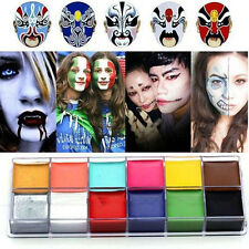 12x Colors Face Body Paint Oil Painting Art Make Up Halloween Party Kit Set