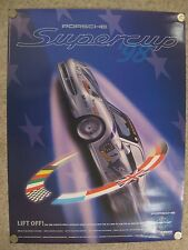 """1998 Porsche Supercup """"Liftoff"""" Showroom Advertising Poster RARE!! Awesome L@@K"""