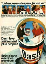 """Publicité Ancienne """" Lessive DASH Machine à Tambour 1968 (  P. 31 )"""