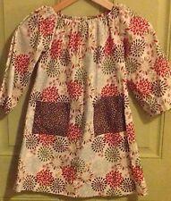 Hand Sewn, Handmade Girl's Dress, Vintage Inspired Flower Dress,