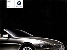 BMW 6 6er E64 CABRIO Prospekt 2003 +++++++++++++++++++++++++++++++++++++++++++++