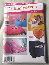 Simplicity Sewing Pattern 5105 EASY PILLOW BEANBAG CHAIR OTTOMAN Simply Teen