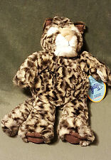 "NWT Manhattan Toy Wildlife Collection LEEANN CLOUDED LEOPARD Puppet 14"" Plush"