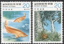 Korea 1979 Fish/Pine Tree/Plants/Nature Conservation/Wildlife 2v set (n27362)