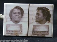 "James Brown Mugshot 2"" X 3"" Fridge / Locker Magnet. The Doors"