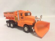 "Snow Plow Salt Truck 6"" Diecast  Metal With Swivel Plow Orange Toy Boys & Girls"