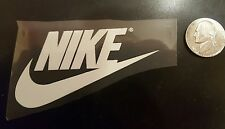 "NIKE PATCH  Logo PATCH HOT IRON ON White  TRANSFER    patch 3"" x 2"" Black"