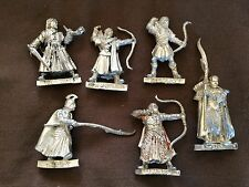 6 metal LOTR Haldir elven army Lothlorien Gil Galad Lord of the rings Hobbit GW
