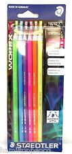 Staedtler wopex Grafito Lápices-Neon Colores Pack De 6 Hb Lápices