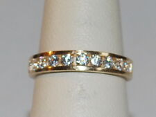 14K Gold band with diamonds