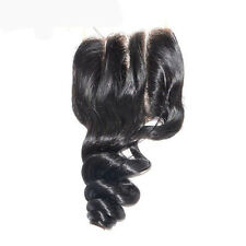 100%16 Inches Brazilian Virgin Human Hair LOOSE WAVE  Lace Closure 4x4 FAST SHIP