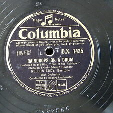 """78rpm 12"""" NELSON EDDY raindrops on a drum / love is the time"""