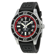Breitling Superocean 42 Automatic Black Dial Black Rubber Strap Mens Watch