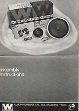Wharfedale Unit 3 speaker kit assembly instructions
