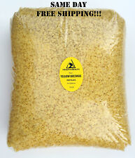 YELLOW BEESWAX BEES WAX  by H&B Oils Center ORGANIC PASTILLES BEARDS PURE 10 LB