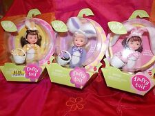 3 EASTER SPECIAL EDITION FLUFFY TAIL LITTLE KELLY DOLLS  YELLOW, PINK & PURPLE