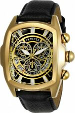 Invicta Men's Lupah Gold Dragon Quartz Watch w/ Five-Piece Leather Strap Set