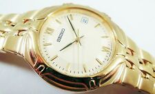 Seiko Gold Tone Stainless Steel 7N42-6C78 Sample Watch NON-WORKING