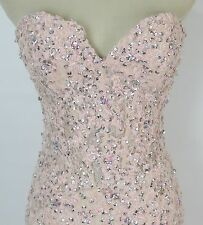 NWT Jovani Size 4 Mermaid $500 Pink Gown Prom Formal Evening Dress Lace Long
