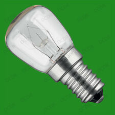 4x 25W Oven, Cooker, Pygmy SES Light Bulbs, E14, 300 Degree Heat Resistant Lamps