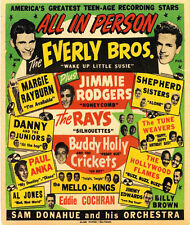 """Ad65 vintage 1950's everly brothers Concert Poster A3 17 """"x12"""" imprimer"""