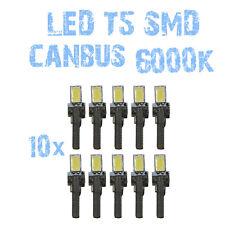 N° 10 Gloeilampen LED T5 Wit 6000K SMD 5630 Koplampen Angel Eyes DEPO FK 12v 1B7