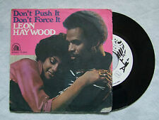 "LEON HAYWOOD""DON'T PUSH IT DON'T FORCE IT - DISCO 45 GIRI, 20th CENTURY FOX"""