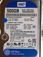 Western Digital WD 5000 aakx - 08u6aa0 DCM: hhnnhtjchb | 25 sep 2014 | wcc2e | 500gb