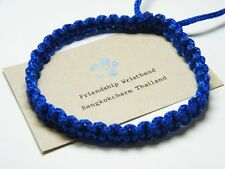 Thai Wristband Friendship Bracelace Fair Trade Good Karma Blue