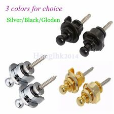 2pcs Guitar Schaller Copper Round Head Strap Lock Pins 1pair Gold/Black/Chrome