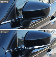 2x CHROME DOOR SIDE MIRROR COVER TRIM GARNISH PROTECTOR OVERLAY FOR MAZDA 3  14-