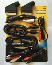 Philips Audio Video Home Cinema Kit 8 Pieces A/V Scart Phono Leads Cables