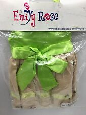 """18"""" Pale Green Dress Party Outfit - By Emily Rose Fits American Girl Doll"""