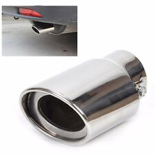 Car EXHAUST Tail Muffler Tip Pipe Chrome Round Fit pipe diameter For 1.8-2.2 T