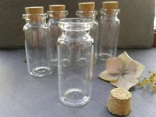 8Pcs Vials Clear Glass Bottles With Cork Crafts Storage Tool Jewelry 10ML Set