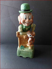 Vintage Hoffman Mr Lucky Leprechaun Series Musical Decanter